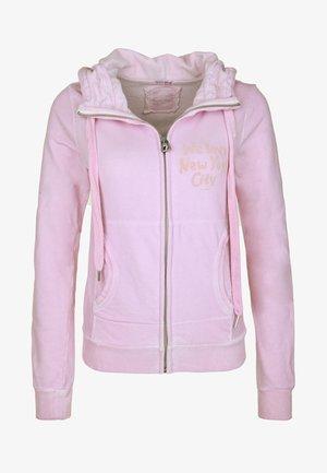 SHELBY - Zip-up hoodie - light pink