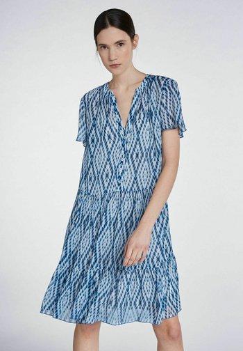 Shirt dress - white blue