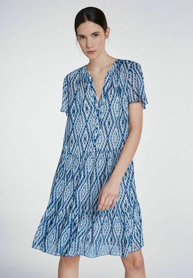 Blusenkleid - white blue