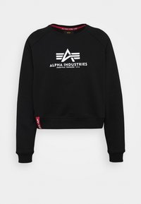 Alpha Industries - BOXY - Sweater - black - 4