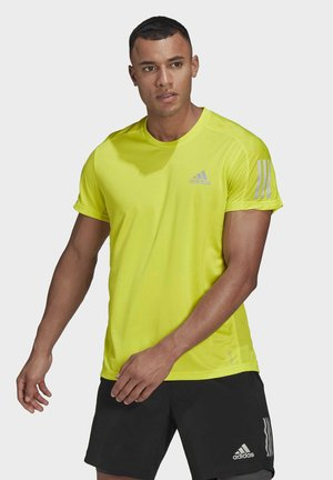 RESPONSE PRIMEGREEN RUNNING SHORT SLEEVE TEE - Camiseta estampada - yellow