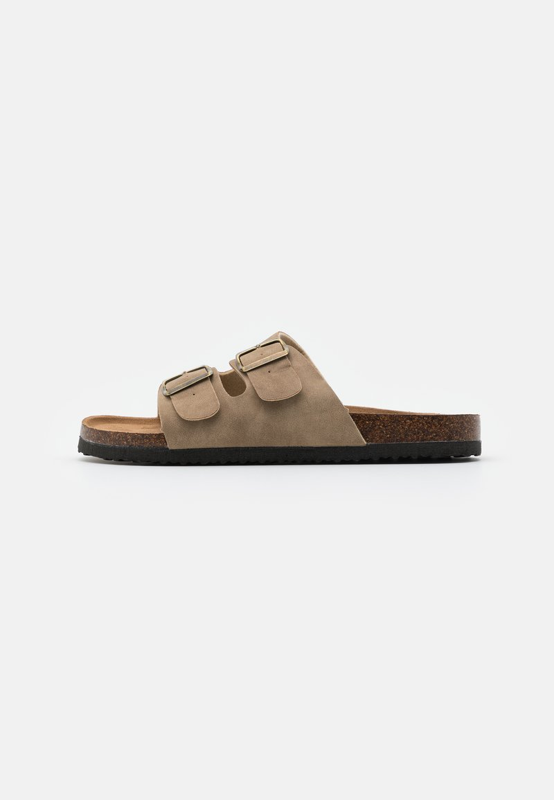 Cotton On - DOUBLE BUCKLE - Mules - tan
