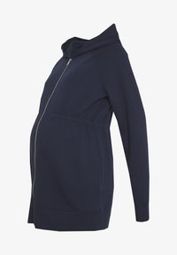 GAP Maternity - NEW ESSENTIAL BRUSHED ZIP HOODIE - Bluza rozpinana - navy uniform - 4