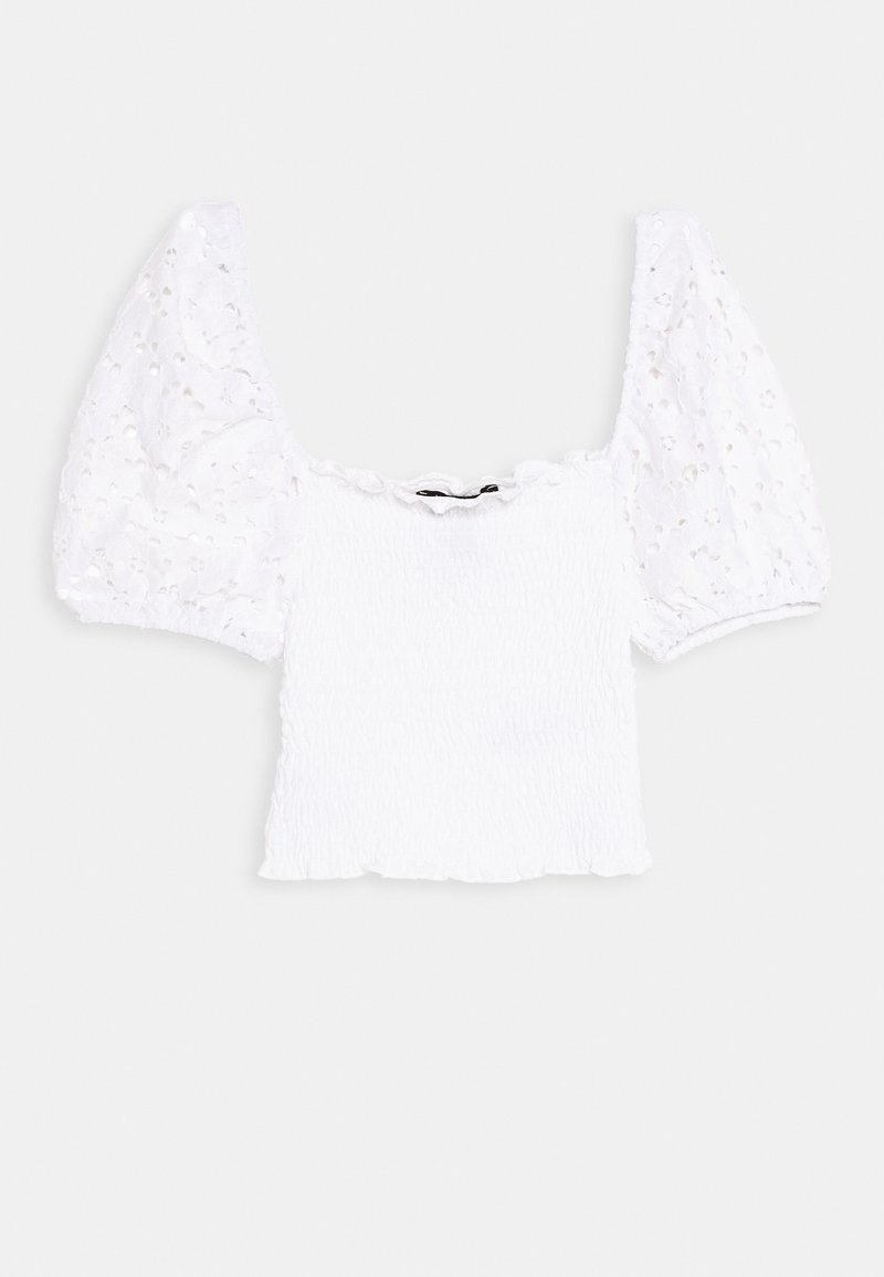 New Look 915 Generation - SHIRRED - T-shirt con stampa - white