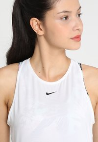 Nike Performance - TANK ALL OVER  - Sports shirt - white/black - 5