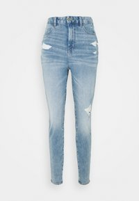 American Eagle - CURVY HIGHEST RISE DREAM - Jeggings - indigo acid - 0