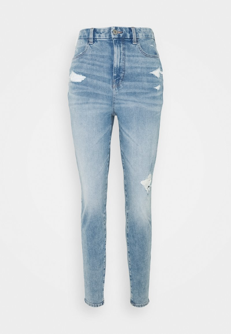 American Eagle - CURVY HIGHEST RISE DREAM - Jeggings - indigo acid