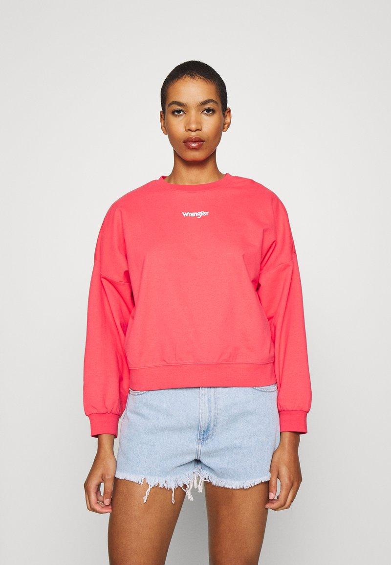 Wrangler - SUMMER WEIGHT - Sweatshirt - paradise pink