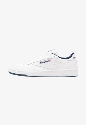CLUB C 85 LEATHER UPPER SHOES - Matalavartiset tennarit - white/navy