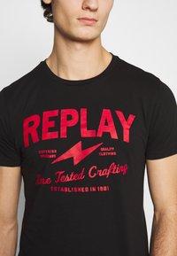 Replay - TEE - Print T-shirt - black - 6
