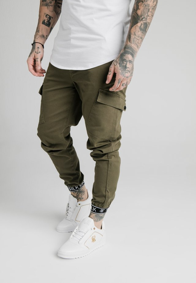 CUFF PANTS - Cargo trousers - khaki