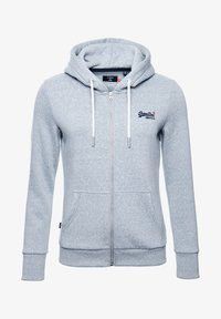 Superdry - ORANGE LABEL - Zip-up hoodie - grey snowy - 4