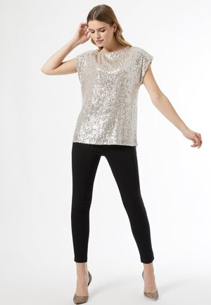 SEQUIN - Blouse - silver