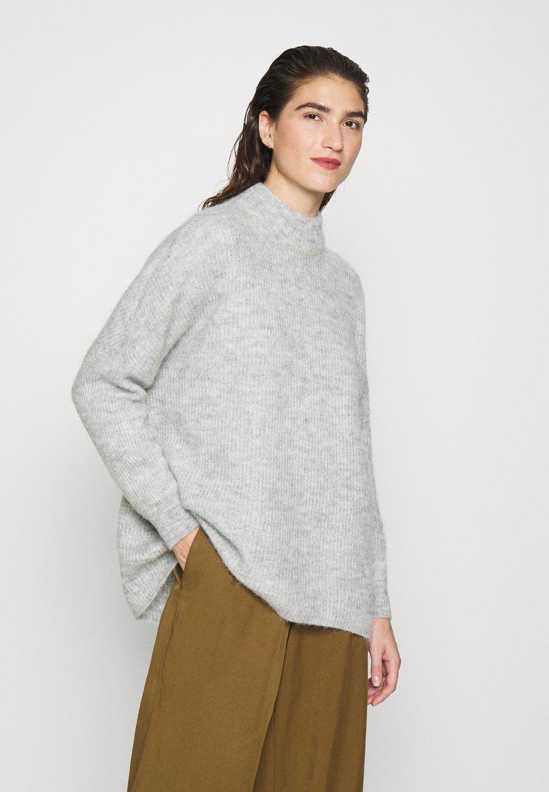 Selected Femme - SLFLULU ENICA  - Jumper - light grey melange