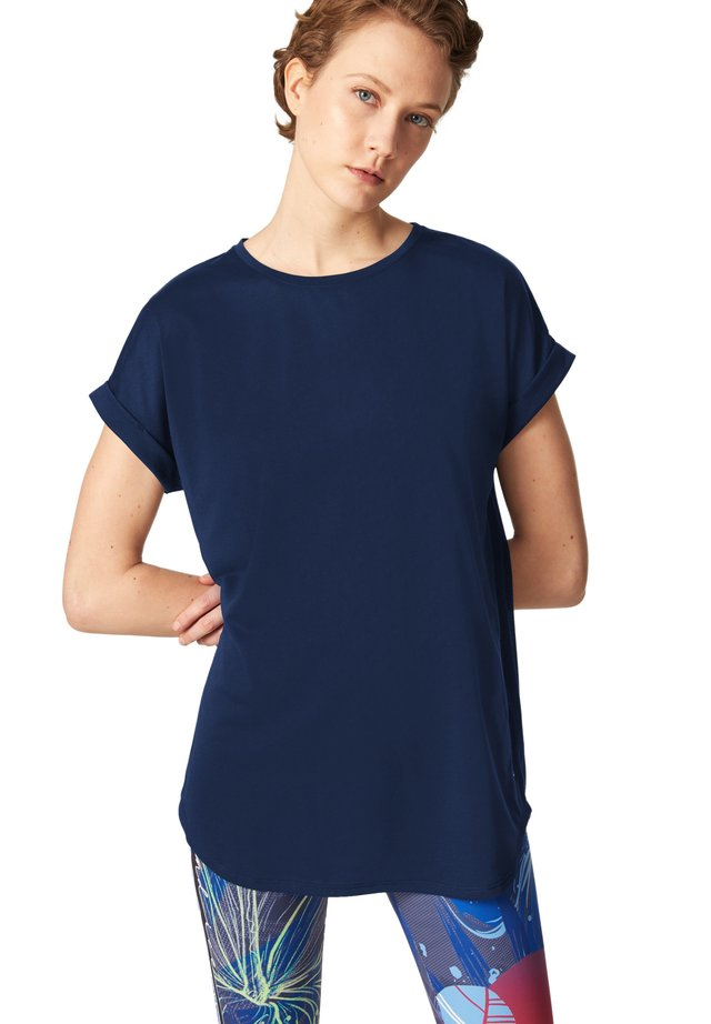 EVIE - Jednoduché triko - navy-blau