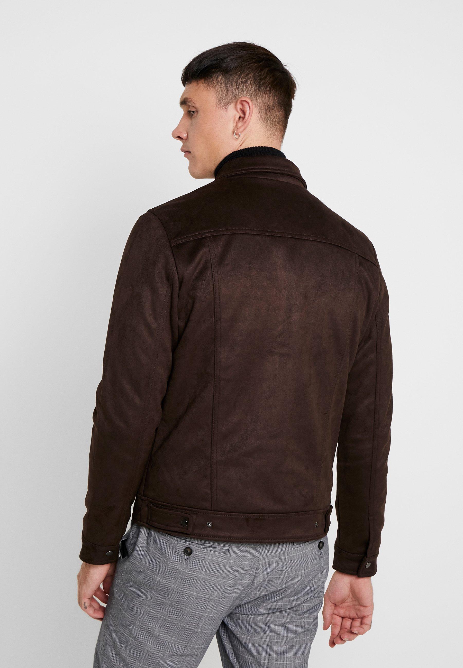 New Look WESTERN Imitert skinnjakke brown Zalando.no
