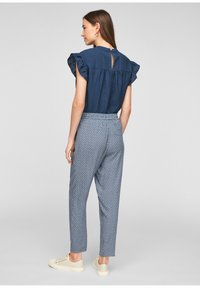 s.Oliver - BROEKEN - Trousers - blue embroidery - 2