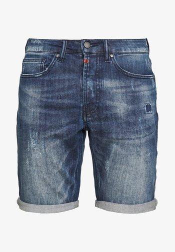 SOLOMON - Jeansshorts - mid blue