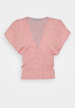 DOLMAN WAISTED - Camiseta estampada - brown floral