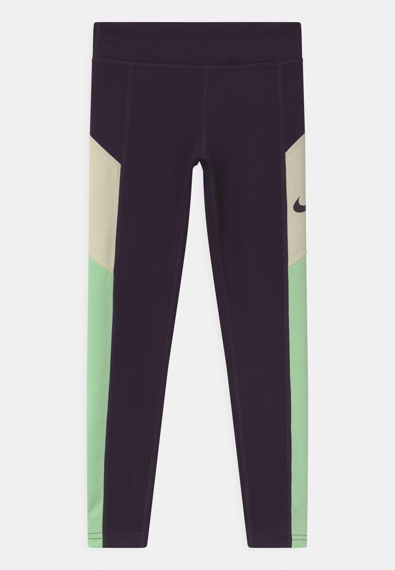 Nike Performance - TROPHY - Leggings - grand purple/vapor green/coconut milk