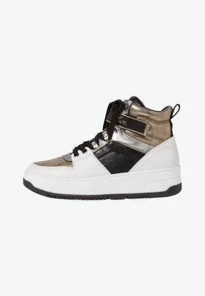 High-top trainers - white/ gold