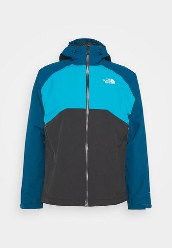 MENS STRATOS JACKET - Hardshell jacket - anthracite/teal/blue