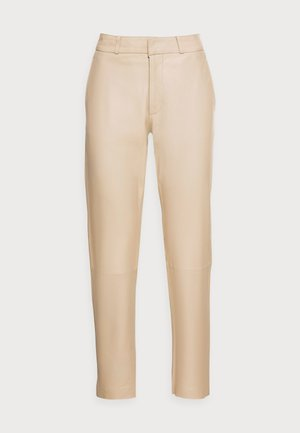 PIAS - Leather trousers - latte