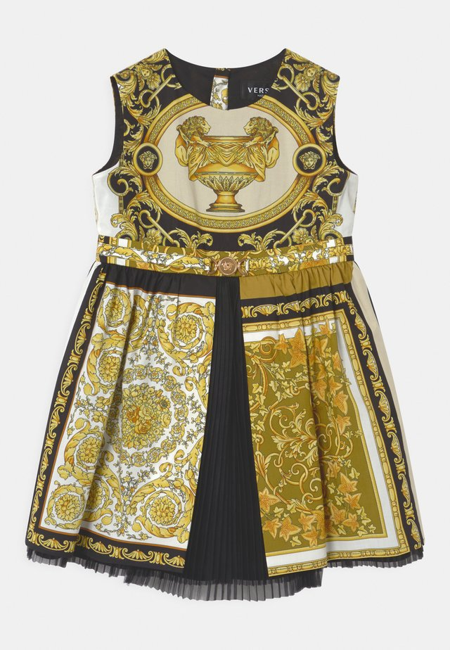 BAROQUE MOSAIC - Cocktailjurk - white/gold/black