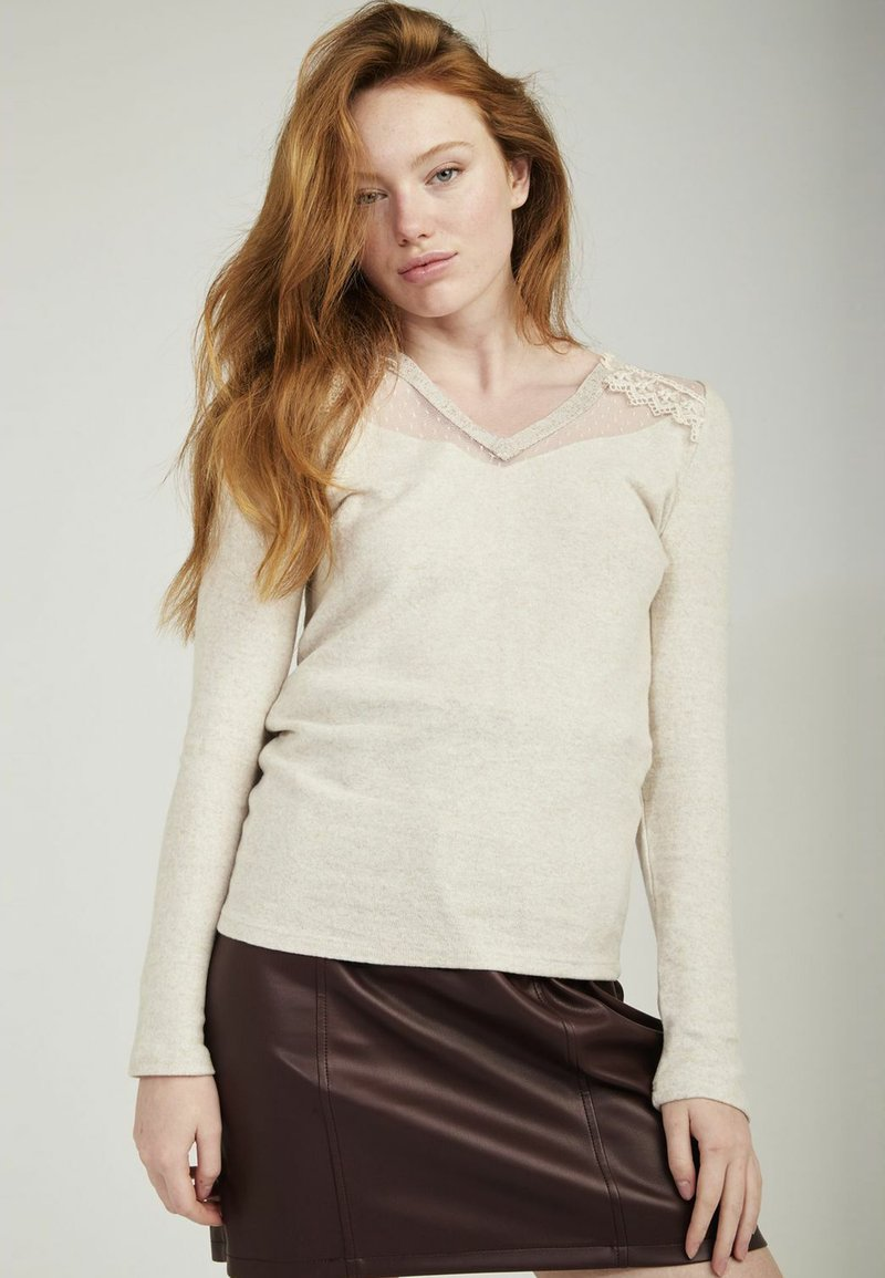 NAF NAF - Long sleeved top - beige
