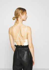 BDG Urban Outfitters - THONG STRAPPY BACK BODYSUIT - Top - white - 2