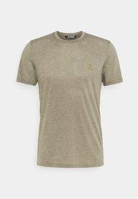 Salomon - EXPLORE TEE - T-shirt basique - olive night/heather - 0