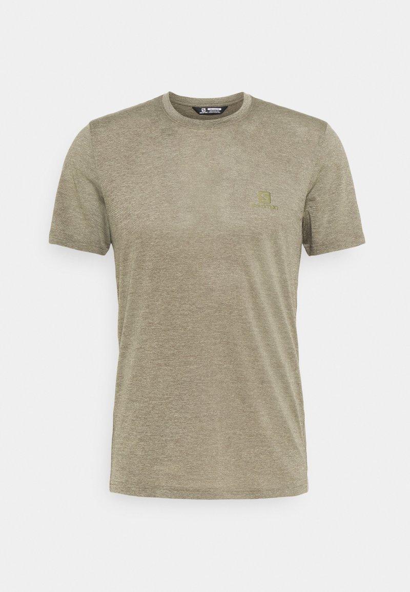 Salomon - EXPLORE TEE - T-shirt basique - olive night/heather