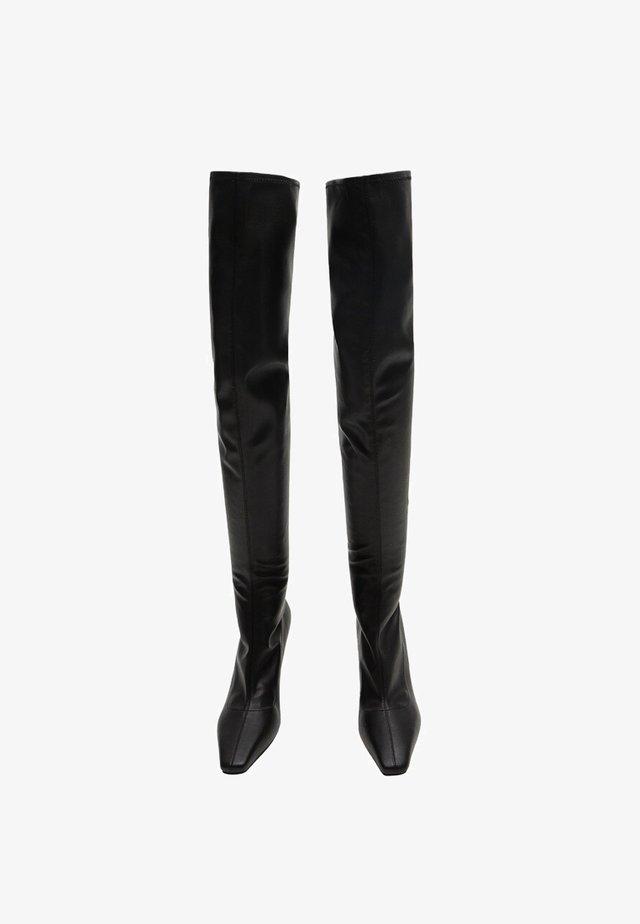 LAURA - Høye støvler - black