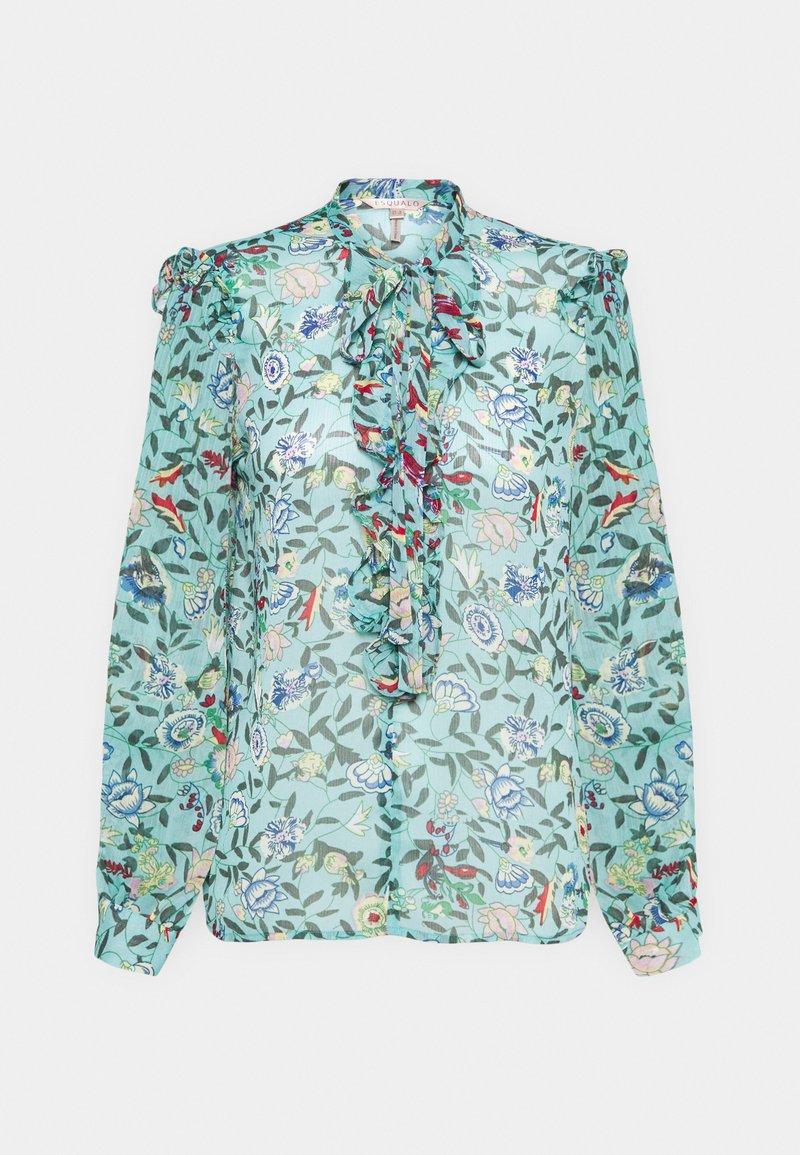 Esqualo - BLOUSE FLOWER GARDEN  - Blouse - green