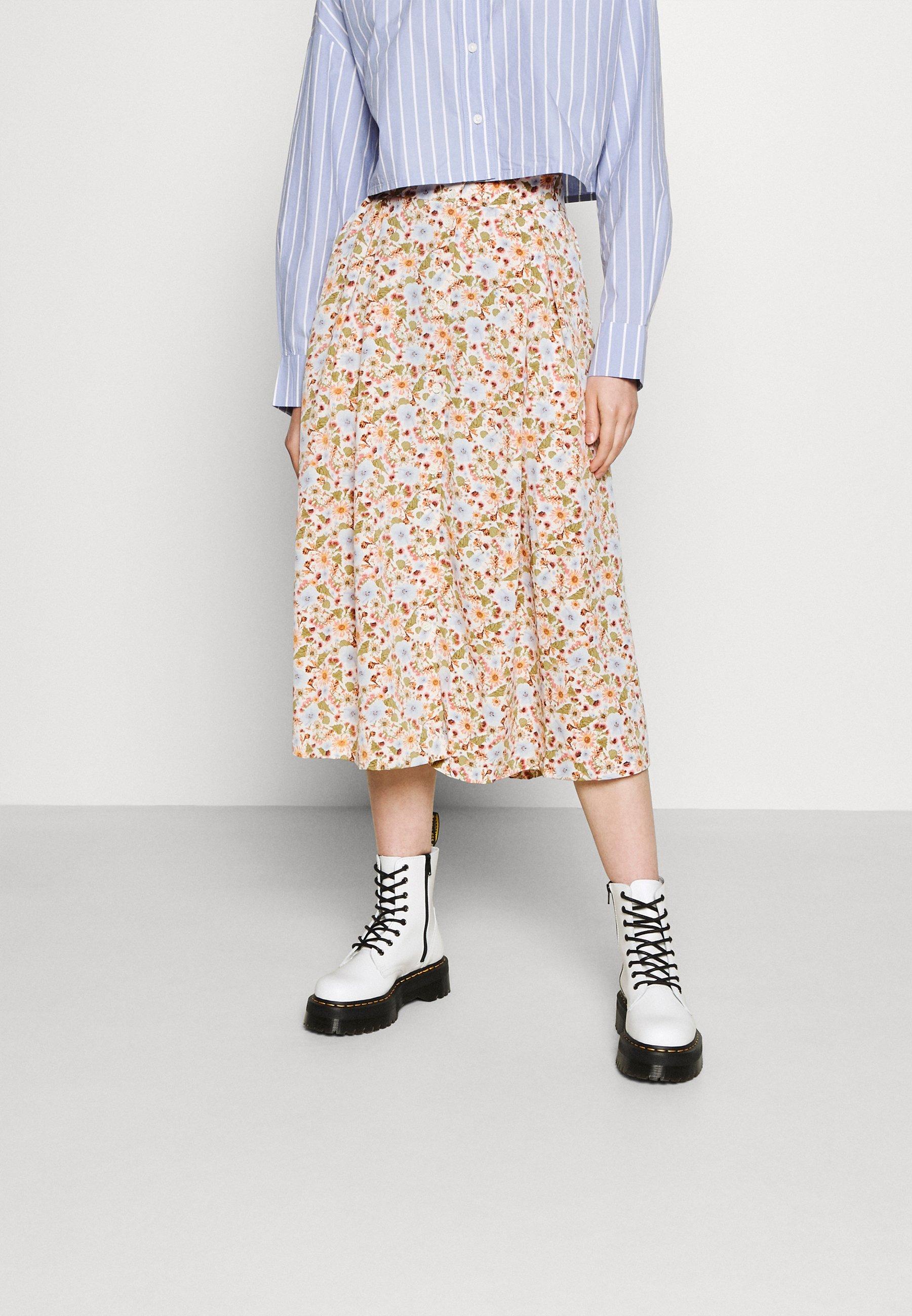 Women SIGRID BUTTON SKIRT - A-line skirt