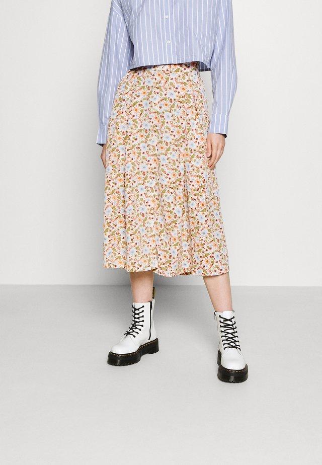 SIGRID BUTTON SKIRT - A-line skirt - rose