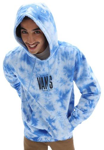 MN TALL TYPE TIE DYE PO - Sweatshirt - nautical blue/tie dye