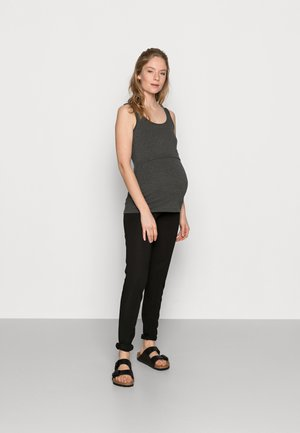 NURSING 3er PACK - Top - Topper - black/dark grey/white