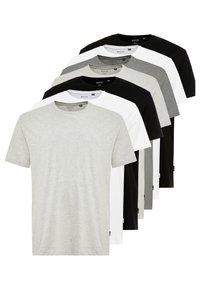 Burton Menswear London - BASIC TEE 7 PACK - T-Shirt basic - grey/black/white - 0