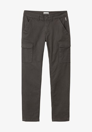 MOTO WINT - Cargo trousers - dark grey solid