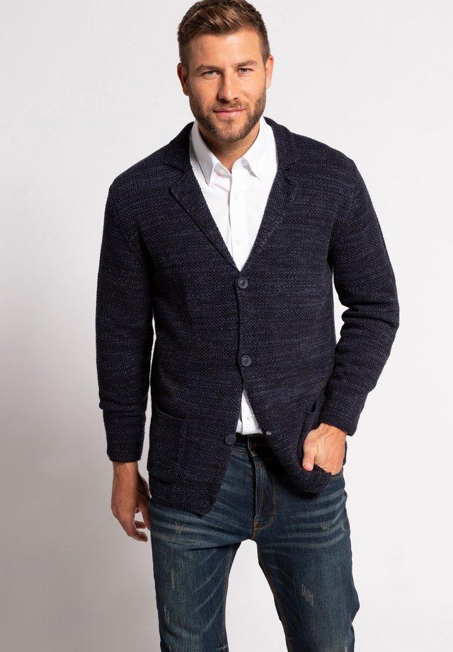 Blazer jacket - navy-melange