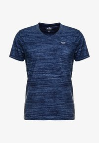 Hollister Co. - VEE - Print T-shirt - navy