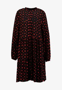 Freequent - FLOW PRINT - Korte jurk - black mix - 5