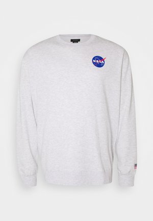 COLLAB CREW - Felpa - light grey marle/nasa circle