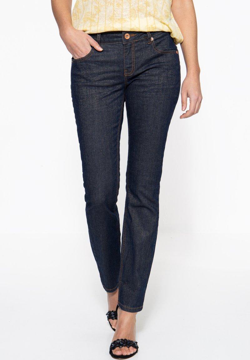 Amor, Trust & Truth - IN GLITZEROPTIK BEL - Slim fit jeans - dunkelblau