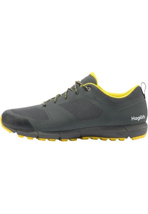 L.I.M LOW PROOF ECO - Hiking shoes - magnetite/signal yellow