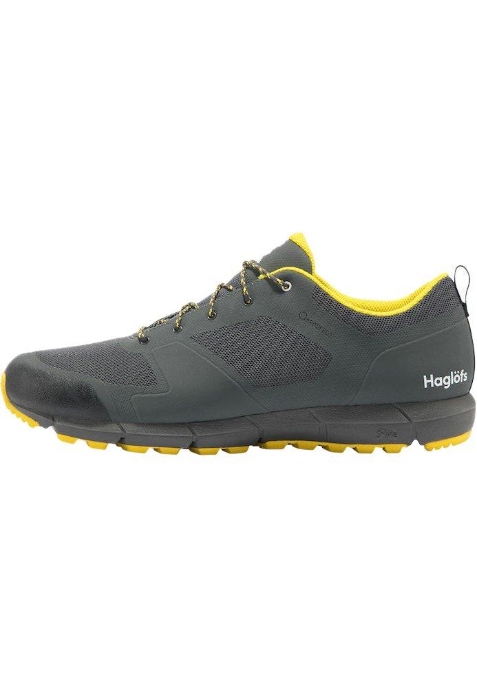 Haglöfs - L.I.M LOW PROOF ECO - Hiking shoes - magnetite/signal yellow