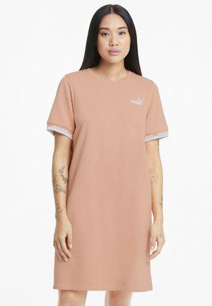 Jersey dress - apricot blush