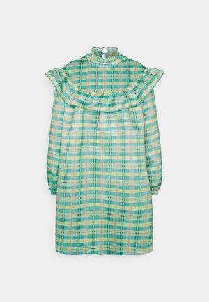 OVERSIZE Prairie ruffle bib dress - Sukienka letnia - green/multi-coloured