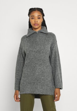 EDEN - Strikkegenser - mid grey melange